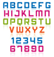 Overlap font vector image