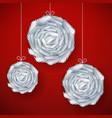 Decorative paper cut balls vector image