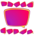 Abstract 3D speech bubble background plus EPS10 vector image vector image