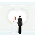 wedding invitation card with a wedding couple vector image vector image