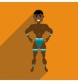 Flat web icon with long shadow dancer man vector image