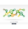 Ecology Growth abstract background with connected vector image