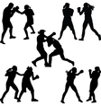 boxer woman vector image