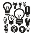 bulbs icons vector image