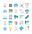 Cloud Data Technology Colored Icons 3 vector image