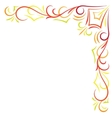 Doodle color abstract corner frame vector image