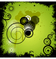 Green background with elements of grunge eps10 vector image