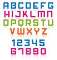 Overlap font vector image