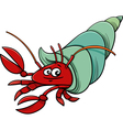 sea hermit crab cartoon vector image