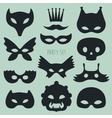 Set of Carnival Mask vector image