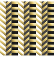 Striped geometric seamless pattern in gold vector image