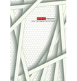 White bars over bright honeycomb structure vector image