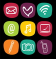 Technology web icons set vector image vector image