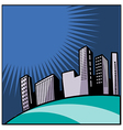 City blocks background vector image