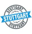 stuttgart blue round grunge vintage ribbon stamp vector image