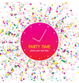 party time card vector image vector image