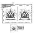 find 9 differences game black circus vector image