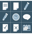 organizer icon set vector image