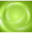 Abstract green shiny wavy design vector image