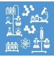 Chemistry decorative icons set vector image
