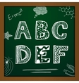 chalk drawing alphabet vector image