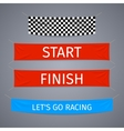 Start and finish textile banners set vector image
