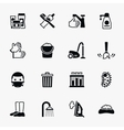 Sanitation and health flat icons set vector image