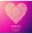 ornate heart mandala pattern vector image