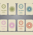 Business card Vintage geometric elements vector image