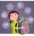 Elementary school student vector image