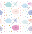funny hand drawn seamless pattern background with vector image