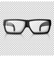 realistic glasses Transparent vector image