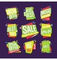 Sale banner isolated set vector image