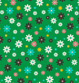 Seamless Flowers Pattern Flat Design Flower Set on vector image