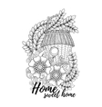 Wood nesting box Pattern for coloring book vector image