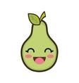 kawaii cartoon pear fruit vector image