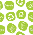 Green environment and recycle background vector image