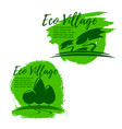 eco village green living and ecology icon set vector image vector image