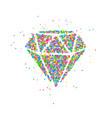 diamond circles abstract vector image