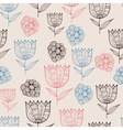 Seamless Doodle Floral Pattern vector image vector image