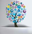 Globe Tree Abstract Background vector image