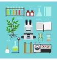 Biology laboratory icons vector image