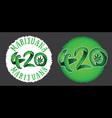 420 marijuana cannabis text made of leafs vector image