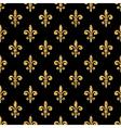 Golden fleur-de-lis seamless pattern black 1 vector image