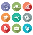 Aircraft and flight Icons Set vector image