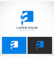 arrow square forward business logo vector image