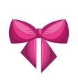 bow ribbon decoration icon vector image