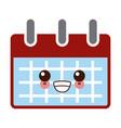 calemdar schedule symbol kawaii cute cartoon vector image