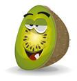 cartoon funny kiwi character vector image
