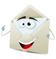 cartoon happy email character vector image